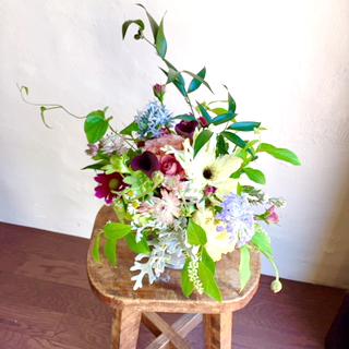 風葉花テイストのアレンジメント
